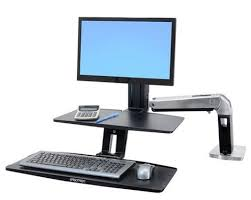 monitor and keyboard arm desk mount ergotron workfit a sit stand suspended keyboard tray monitor arm