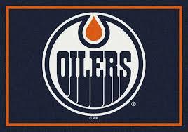 Nhl Area Rugs Oilers Spirit Nhl Hockey Logo Area Rug
