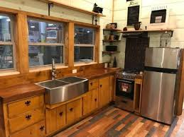 modern and rustic 320sf tiny house by incredible tiny homes for