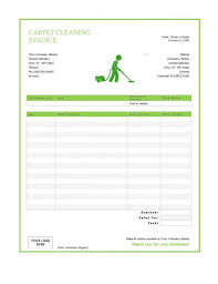 free blank invoice templates in pdf word excel carpet cleaning