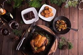 roasted whole chicken turkey for celebration and