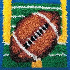 touchdown wonderart latch hook kit 12 x12 123stitch