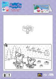 peppa pig christmas card craft mama likes