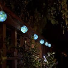 glow sea glass solar string lights allsop home garden