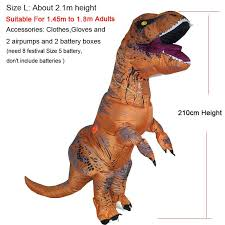 Dinosaur Halloween Costumes Adults Black Inflatable Dinosaur Rex Costumes Women Blowup Rex