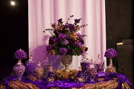 purple u0026 gold wedding candy buffet