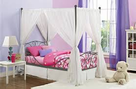little girls twin bed beautiful princess inspired canopy beds with drapes for