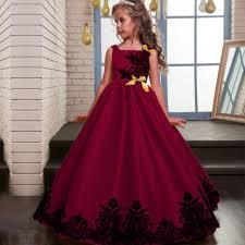 baby girls flower sequins dress kids formal occasion