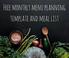 as 25 melhores ideias de menu planning templates no pinterest