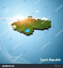 Map Of Czech Republic Realistic 3d Map Czech Republic Stock Illustration 303050042
