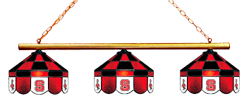 nc state pool table light north carolina state wolfpack stained glass 3 light executive game