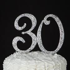 30 cake topper 30 cake topper for 30th birthday or anniversary silver