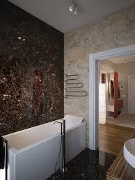 brown cream marble bathroom walls interior design ideas