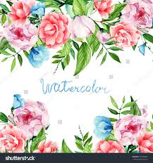 handmade watercolor cards card you handmade watercolor flower arrangement stock illustration