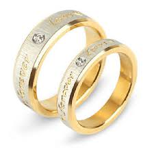 ring gold forever men women ring gold plate wedding band his
