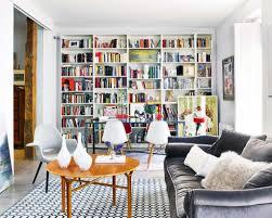 stylish bookshelves for comfortable living room ideas with elegant