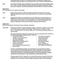 Resume Sample Architecture by Project Architect Resume Template