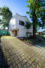 86 6 sqm small reinforced concrete house design with simple grass tile pavers small house landscape design idea