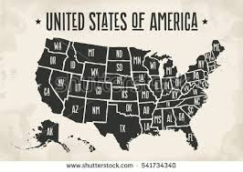 united states map black and white united states map vector free vector stock