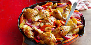 Lidia S Kitchen Recipes by Skillet Chicken Potatoes And Peppers Recipe