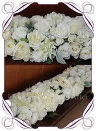 hire thick white ivory garland 1 9mt flowers for after