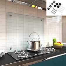 küche wandschutz 100x60cm küchenrückwand aus glas spritzschutz fliesenspiegel