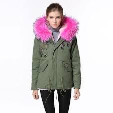 cute jacket pattern beading jacket snake pattern cute pink faux fur winter parka women