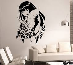 jdm sticker wallpaper geisha wall decal sticker art decor bedroom design mural japamese