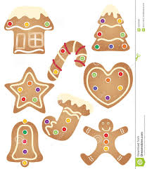 gingerbread set stock images image 33030484
