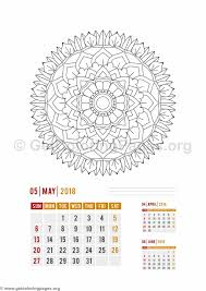 flower mandala may calendar coloring pages u2013 getcoloringpages org