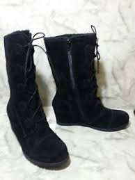 womens boots size 11 leather boots black suede leather baretrap womens boots size 11 ebay