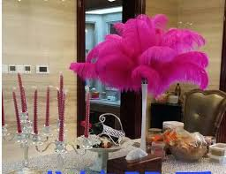 Table Decorations With Feathers 2017 Hottest Diy Ostrich Feathers Plume Centerpiece For Wedding