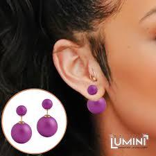 sided stud earrings lumini lumos lilac sided stud earrings allthingscharmed