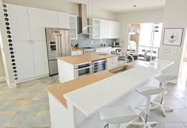white glass nanoglass countertops for your contemporary kitchen modern kitchen with mix of white glass countertops and brown quartz