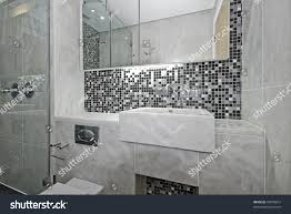 En Suite Bathrooms by Modern Ensuite Bathroom Marble Sink Mosaic Stock Photo 45050812