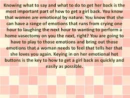 what to say to to be how to get a girl back with no begging or pleading at all