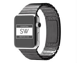 black stainless steel link bracelet images Apple watch band stainless steel link bracelet w butterfly lock jpg