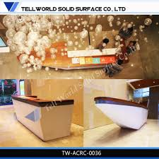 Reception Desk Sale by Sale Acrylic Solid Surface Cocktail Desk Furniture Led