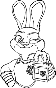 judy hoops i am police coloring page wecoloringpage