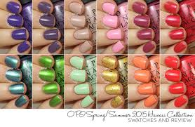 hb beauty bar opi spring summer 2015 hawaii collection swatches