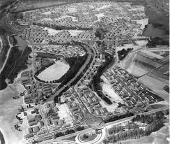vanport city aerial 1943 vintage portland