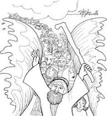 Moses Coloring Pages Free Printables Red Sea Sunday School Bible Coloring Pages Moses