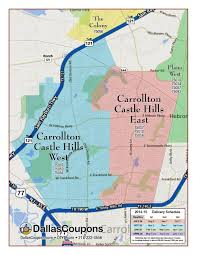 Grapevine Map Door Hanger Advertising Dallas Fort Worth Tx Delivery Areas