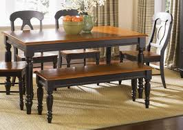 Dining Table Chairs And Bench Set Black Bench Style Dining Table Best Gallery Of Tables Furniture