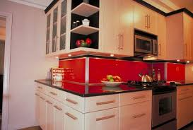 Red Colour Kitchen - red kitchen backsplash innovative modern colour for kitchen