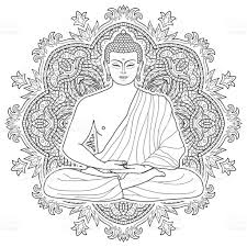 seated meditating buddha stock vector art 641171216 istock