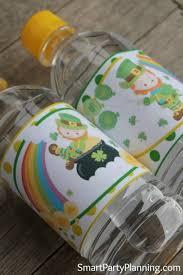 Decorate Water Bottle Leprechaun Water Bottle Labels For St Patrick U0027s Day