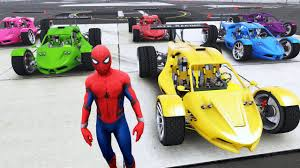 learn colors spiderman color cars learning colors videos