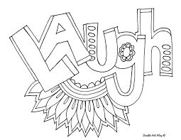 coloring pages ofwords coloring