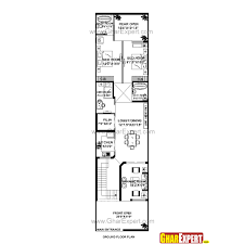 house plan for 21 feet by 85 feet plot plot size 198 square yards